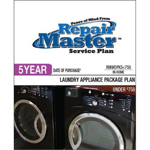 New - Warrantech Corporation 5-YEAR DOP - WASHER/DRYER PKG - GE7011  #MajorAppliances