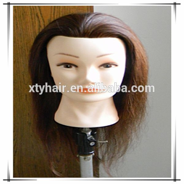 Wholesale alibaba Hairdressing mannequin head with hair, hairdressing training heads, beauty school mennequin heads