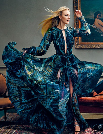 Caroline Trentini in Emilio Pucci | Vogue Sept 2012: Emilio Pucci, Ball Gowns, Candice Swanepoel, Evening Gowns, Beautiful Dresses, Fashion Bazaars, Vogue September, Vogue Editorial Dresses, Haute Couture