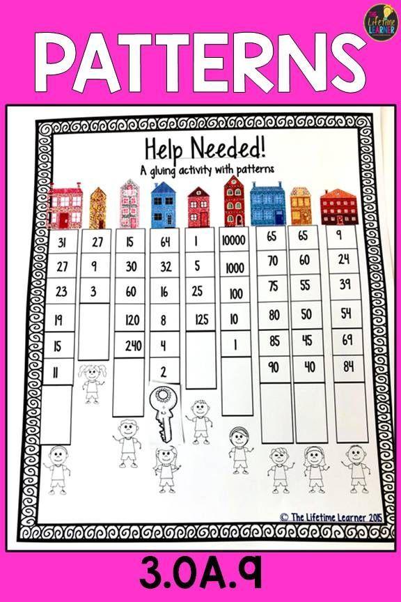 Multiplication Patterns Worksheets Math Test Prep Activities Fall Math Activities Math Activities