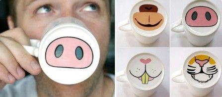 Tiernas tazas con dibujo de animal                                                                                                                                                                                 Más