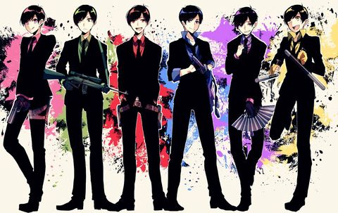 Osomatsu-san mafia Characters:Osomatsu/Karamatsu/Choromatsu/Ichimatsu/Juushimatsu/Todomatsu