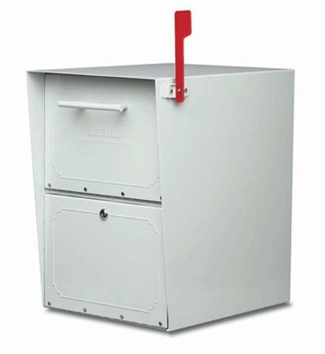 mailboxes locking post mount mailbox from the oasis series pearl gray mailboxes commercial mailboxes locking - Commercial Mailboxes