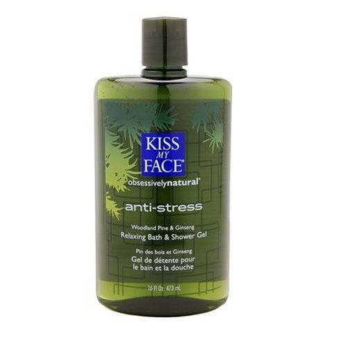 "Kiss My Face ObsessivelyNatural Anti-Stress Bath and Shower Gel, 16-Ounce Bottles (Pack of 3) by Kiss My Face. Save 25 Off!. $24.58. Calming with Lavender. Rejuvenating with Ginseng. Aromatherapeutic. Recuperate, revive, relax. Let the warm, calming water drench your body. Soothe and calm your mind. Allow the herbs and botanicals to create a sense of composure, a feeling of peace and quietude within your being. Let them soothe your skin. Treat yourself to an ""intermission"" fro..."