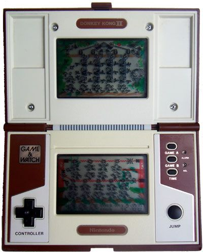 The Nintendo Game and Watch Donkey Kong II (Donkey Kong 2), the Nintendo handheld electronic game.