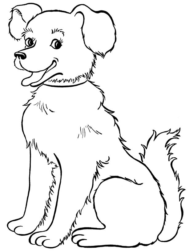 Beautiful Dog Coloring Page   Dog   Pinterest   Coloring pages, Dog ...
