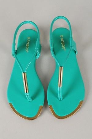 32e634a39 Bamboo Esperanza-01 Patent Slingback Thong Flat Sandal