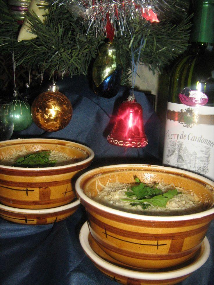 Яйца-кокотт с шампиньоновым пюре.(Кинодуэль новогодняя) пошаговый рецепт с фотографиями