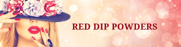 Enhance the look & appearance of your nails,,When in doubt wear red, Red Dip Powders best nail designs successfully.