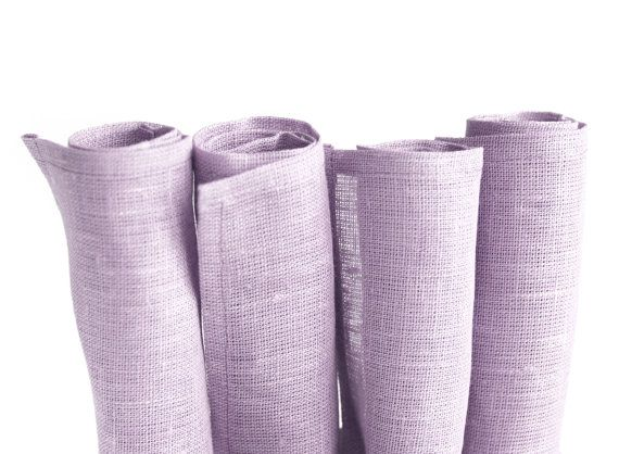 Linen napkins set of 4 by LavishSeason on Etsy, $16.00