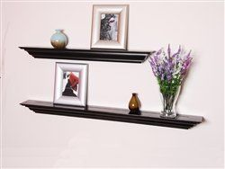 Welland 60 Inch x 3.25 Inch x 5.25 Inch Corona Crown Molding Wall Shelf Black by Welland. $55.00. elegantly curved lines. It's easy to install in a few minutes. it's made from MDF. Crown molding shelf, also called a mantel ledge, is made from MDF. The crown molding shelf is finely routed and sanded with elegantly curved lines. It's easy to install in a few minutes, comes with all hardware. You can hang several shelves to create library, display and highlight a ...