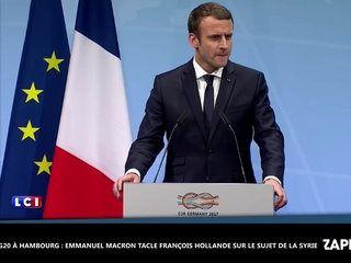 G20 à Hambourg : Emmanuel Macron tacle François Hollande sur le sujet de la Syrie (Vidéo)