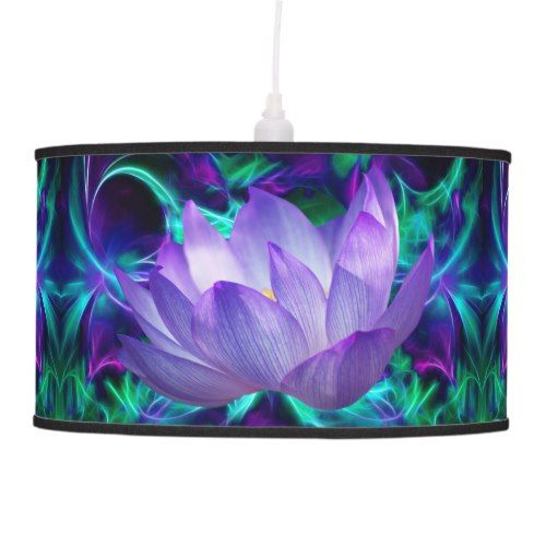 Purple lotus flower and its meaning pendant lamp