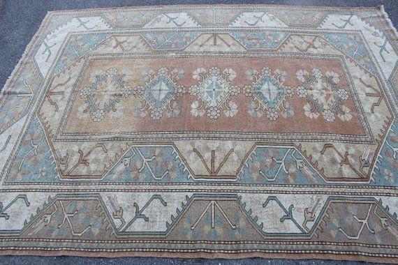 11x8 Vintage Turkish Rug Handmade Oversized Decorative Wool Etsy Rugs On Carpet Vintage Turkish Rugs Wool Area Rugs