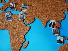 DIY: Weltkarte aus Kork