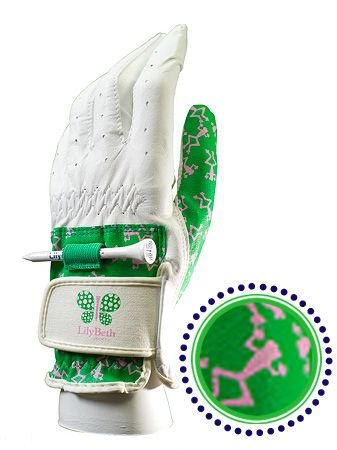 pink and green frog golf glove LilyBeth Golf