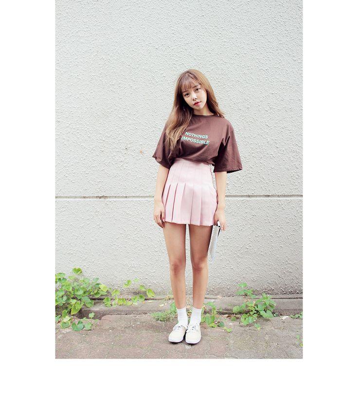 NOTHING半袖Tシャツ(ブラウン)   レディース・ガールズファッション通販サイト - STYLENANDA