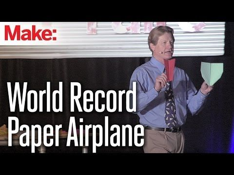 How to fold the world record paper airplane - YouTube