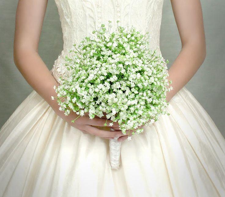 Νυφικο Μπουκέτο με Γυψόφυλλο !!! Bridal Bouquet with Babies Breath !!!