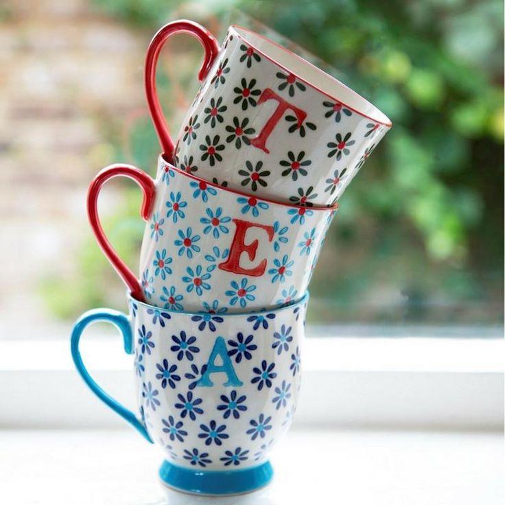 Bohemian Alphabet Letter Mugs by Sass & Belle