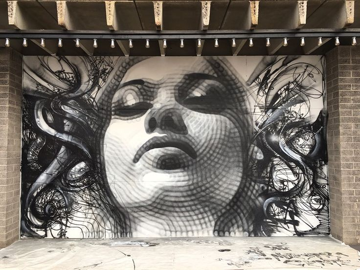 El Mac and David Choe's Medusa mural on the new Cobra Arcade bar in downtown Phoenix.