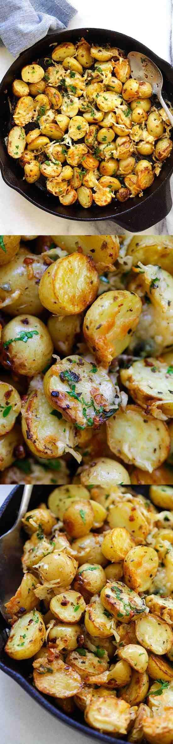 Italian Roasted Potatoes - healthy, paprika, parsley, potato, recipes