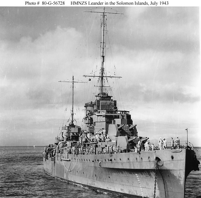 Beautiful Houses The Royal Penthouse Ii In Australia: HMNZS Leander In The Solomon Islands, July 1943