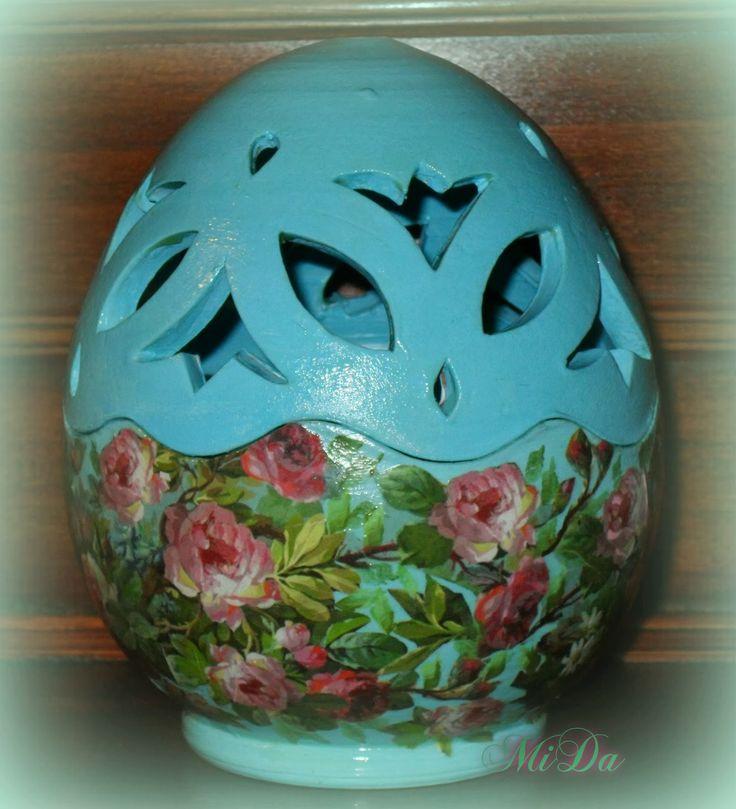 Decoration egg pottery