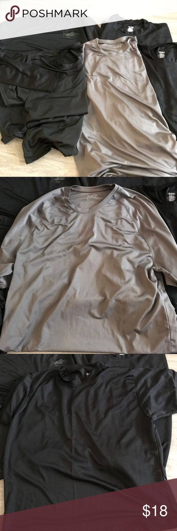 Men's XL Compression Top Bundle All tops in excellent condition. 1 everlast XXL long sleeve top (fits like XL), 1 everlast XXL short sleeve top (fits like XL), 2 XL PBX Pro short sleeve tops, 1 XL Old Navy short sleeve compression top. Old Navy Shirts Tees - Short Sleeve