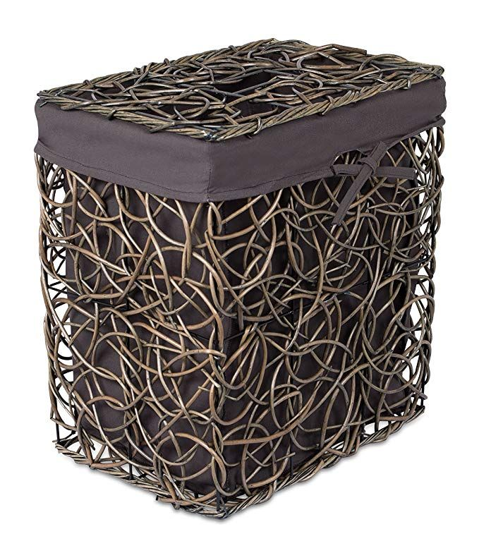 Birdrock Home Decorative Willow Laundry Hamper With Liner Woven