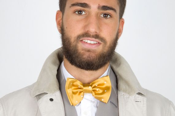 Yellow bow tie by Rione Fontana