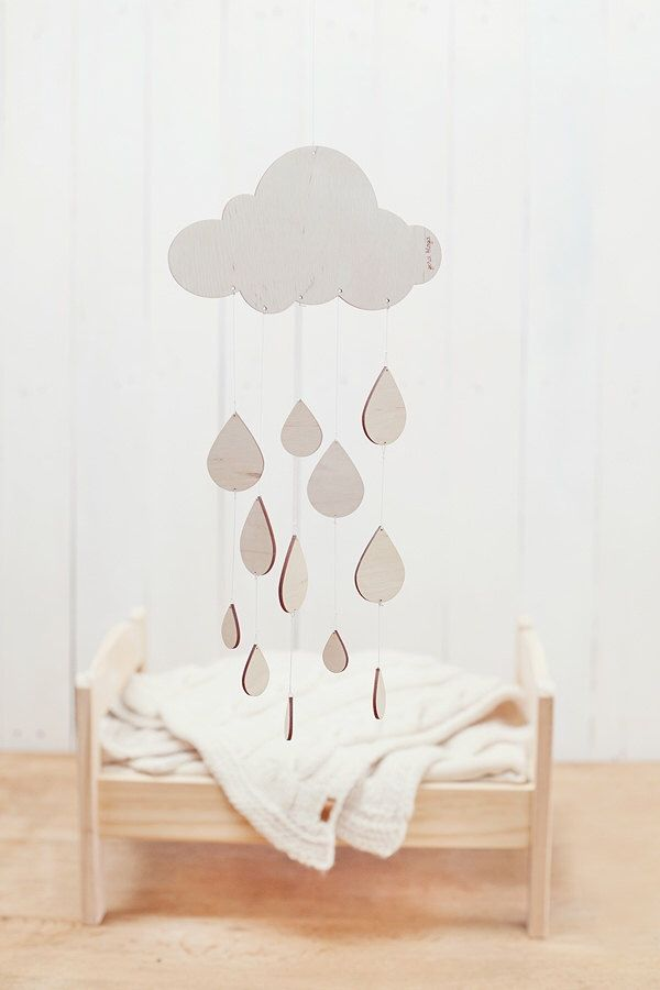 Rainny day baby mobile  / Nursery mobile / Baby crib mobile / Wooden mobile by GeraBloga on Etsy https://www.etsy.com/listing/185631220/rainny-day-baby-mobile-nursery-mobile