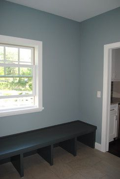 Benjamin Moore Cloudy Sky Living Room Cottage Style