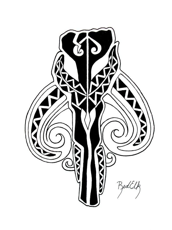 Maori Boba Fett tattoo design by SMH-REDELK