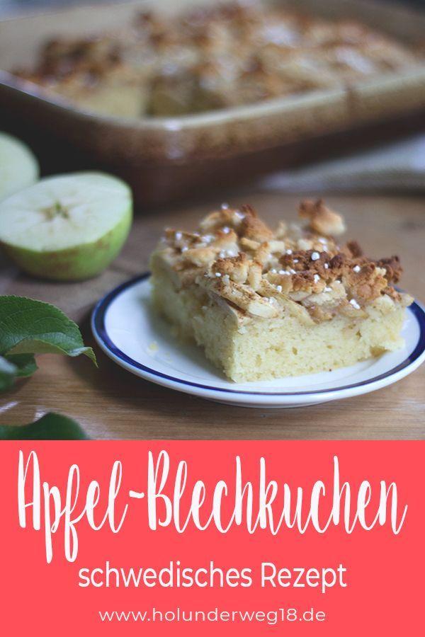 Schwedischer Apfelkuchen Vom Blech Rezept Vegetarische Rezepte