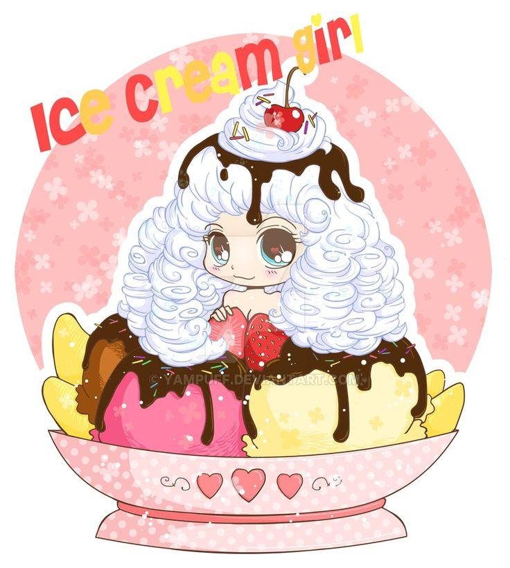 42 best anime food chibis images on pinterest anime - Ice cream anime girl ...