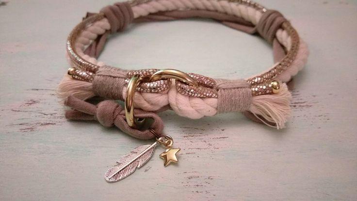 Hund: Halsbänder - Halsband *Vagabond* in Wunschgröße (Text lesen!) - ein Designerstück von Felius_Flower bei DaWanda