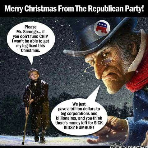 Ebenezer Scrooge, aka Dimwit Donnie Trump, just gave a HUGH tax break to himself and his country club friends, at the expense of working class Americans and the poor.