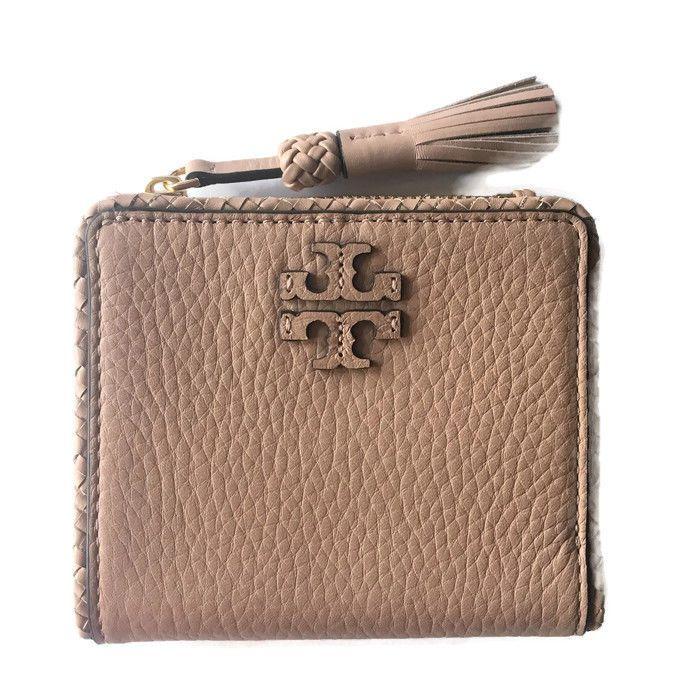 17c84c71f686 TORY BURCH Taylor Mini Wallet ~ Leather Tassel Bifold Devon Sand Tan ~ NWT   135  ToryBurch  Bifold