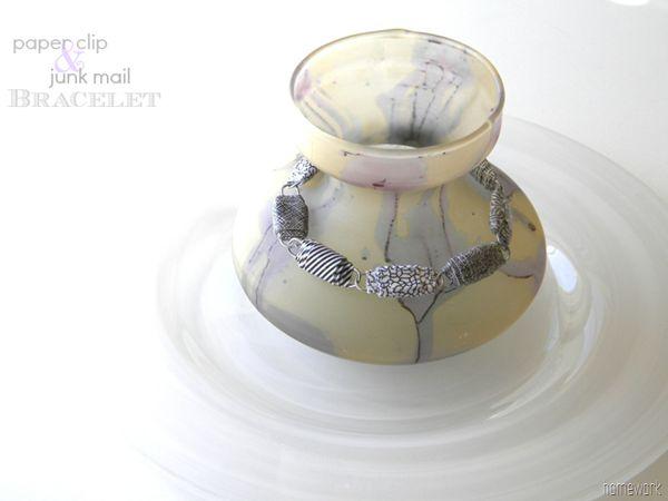 homework: creative inspiration for home and life: Inkling: paper clip & junk mail bracelet
