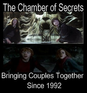 Hooking up in the chamber of secrets   because you just killed a horcrux
