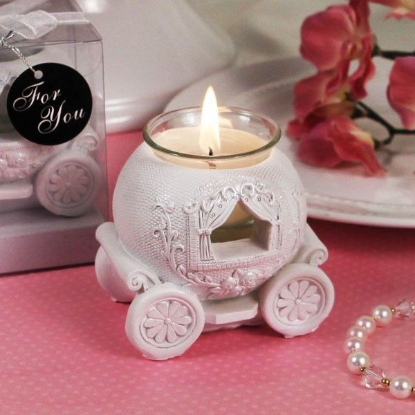 50 Cinderella Carriage Candle Holder Wedding Favor Party Event Bulk Lot