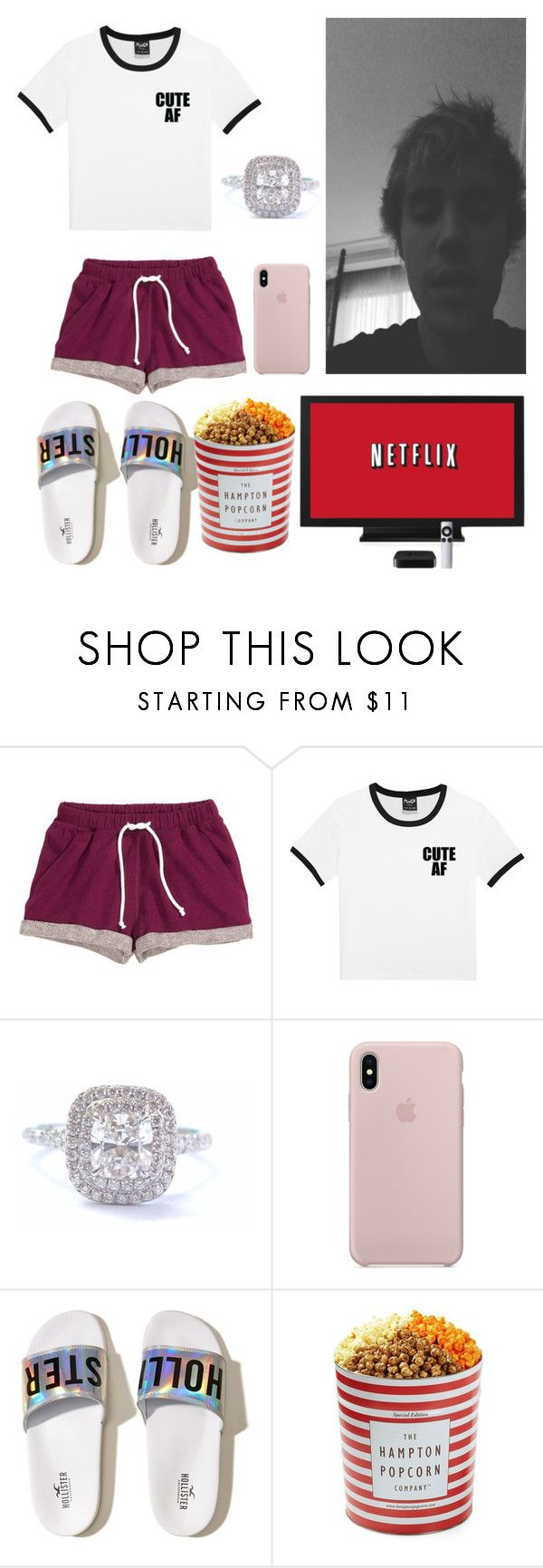 """Sem título #486"" by isabelalalbarelli on Polyvore featuring H&M, Tiffany & Co., Hollister Co. e The Hampton Popcorn Company"
