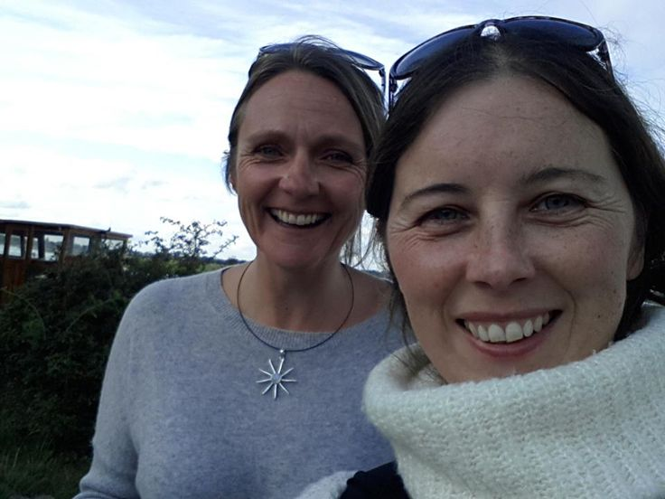Miranda Baker (left), heart-cranker-opener, with the host of the Hazelnut Interviews, Satya Gillen, on the banks of the River Thames in England. Miranda was on a visit home from New Zealand and Satya flew over from Ireland to meet her. Happy times!