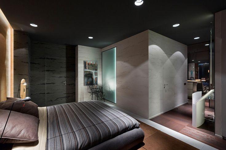 Дизайн спальни: современные идеи в стиле минимализм, Киев, Украина, фото #Bedroom #Interiors