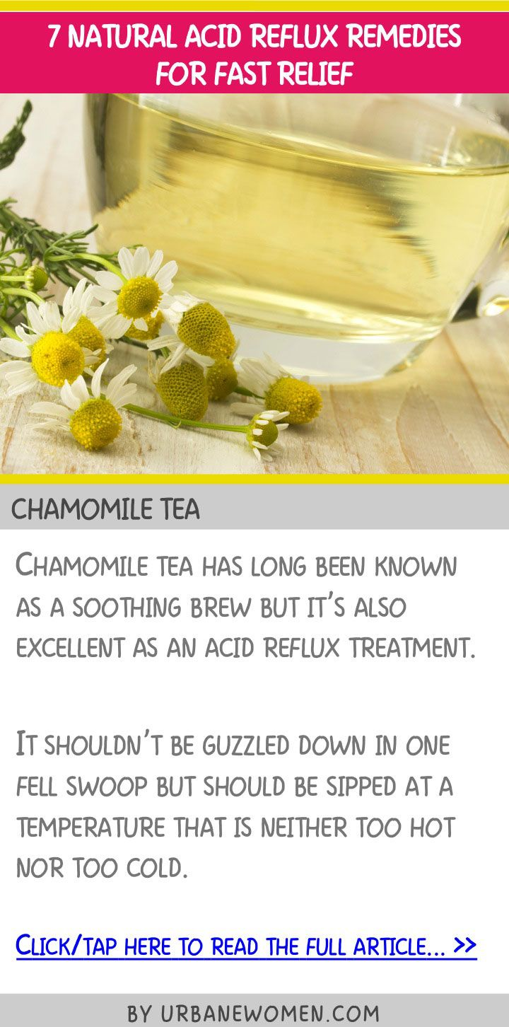 7 natural acid reflux remedies for fast relief - Chamomile tea