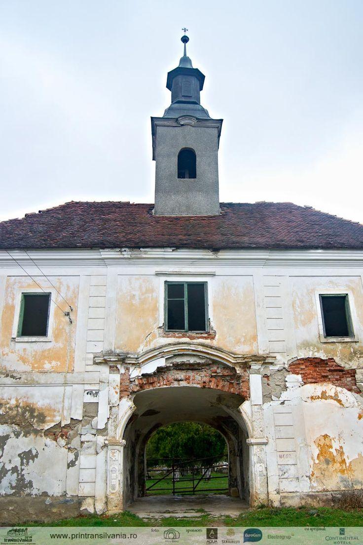 Ruins of Teleki Castle in Posmuș, Bistrița