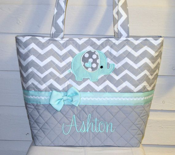 OMG I want soooo bad!! XL Quilted / Applique Chevron / Zig Zag Diaper Bag by MsSewItAll32, $55.00