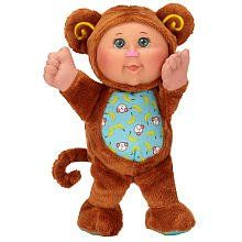 """Cabbage Patch Cuties Monkey by Cabbage Patch Kids. $24.13. 9? animal themed soft bodied Cabbage Patch Kids. More styles every season. Comes in 5 different styles - collect them all. From the Manufacturer                Adopt a 9 inch Cabbage Patch Cuties and have the original Cabbage Patch """"Kid"""" styled face with the same nostalgic feel as the originals but with an updated and fun look in animal styles.  The Monkey style is soft brown fur with fun details.   They also..."""