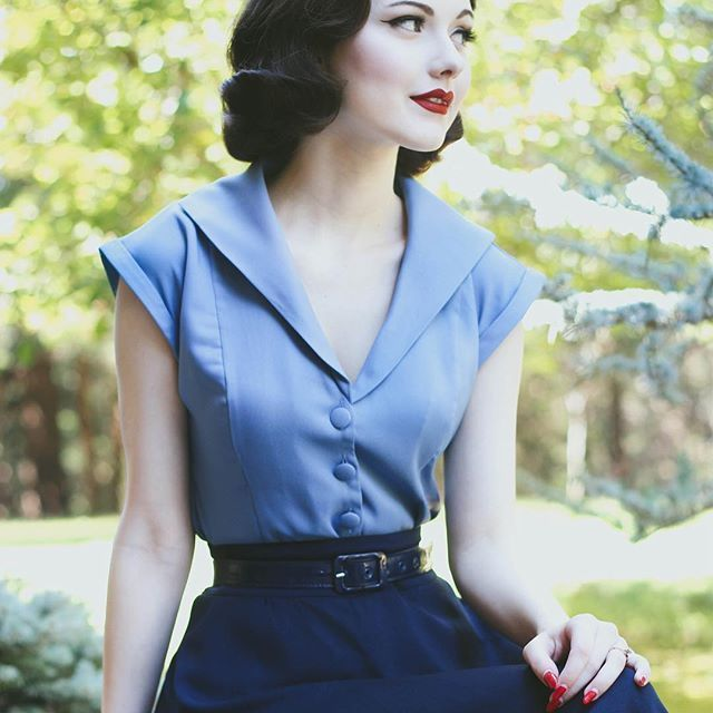 awesome Everything just got all misty. Our 1940s Banned Blouse cannot be stopped....